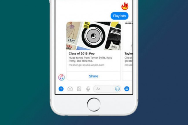 Facebook Messenger Terintegrasi Apple Music