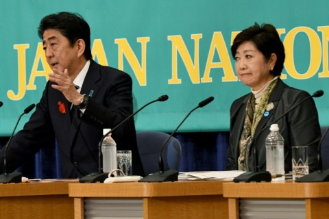 Japan's Prime Minister Shinzo Abe is facing an unexpected challenge from Tokyo Governor and head of the Party of Hope Yuriko Koike