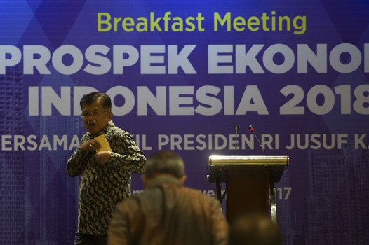 JK Optimis Ekonomi Indonesia Membaik di 2018