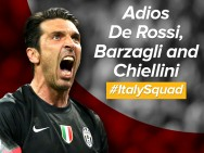 Buffon: Adios De Rossi, Barzagli and Chiellini