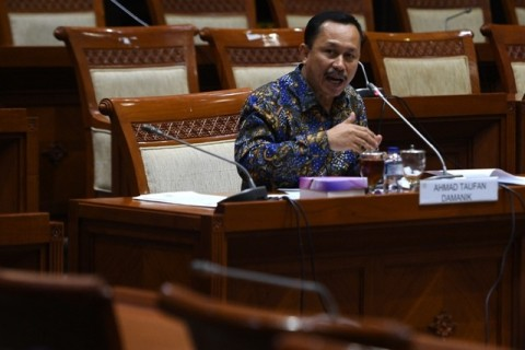 Komnas HAM head Ahmad Taufan Damanik (Photo:Ant/Sigid Kurniawan)