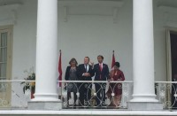 Jokowi Receives Danish PM at Bogor Palace