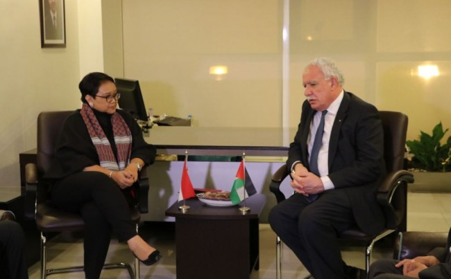 Indonesian, Palestinian Foreign Affairs Ministers Hold Meeting in Amman