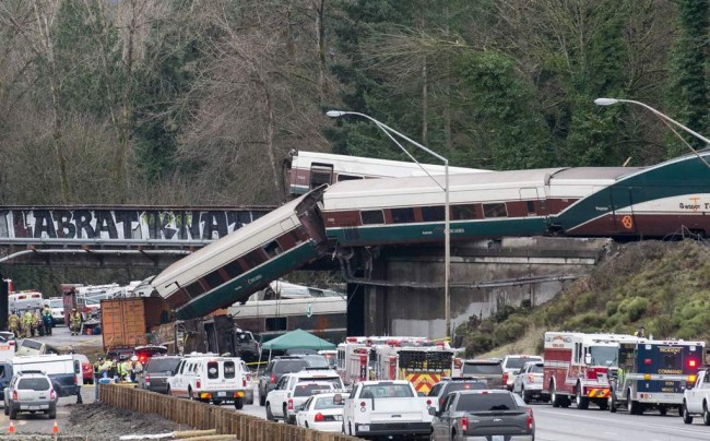 Three Dead as Train Derails Over Washington State Highway
