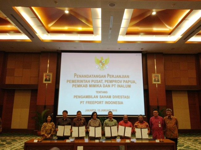 Local Govts to Get 10% Stake in PT Freeport Indonesia