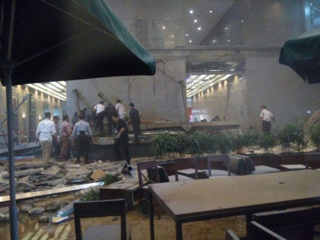 Dozens Injured in IDX Building Floor Collapse