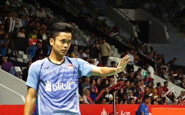 Anthony Ginting Tambah Amunisi Tunggal Putra Indonesia