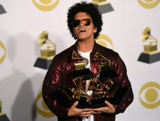 Bruno Mars Surprises with Grammy Sweep