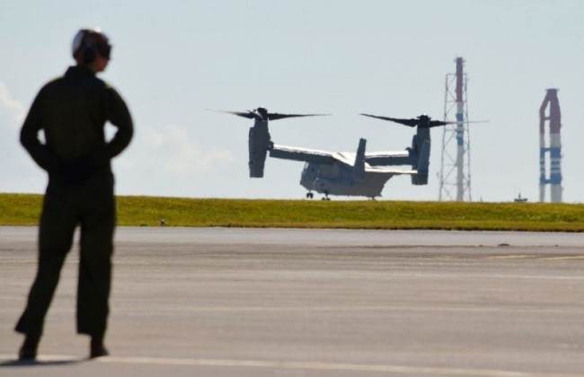 Head of US Marines Osprey Unit in Pacific Sacked