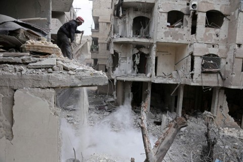 The Syrian regime rained rockets and bombs on Eastern Ghouta, killing several civilians as international pressure mounted to stop the carnage in the rebel-held enclave. (Photo:AFP/Abdulmonam Eassa)
