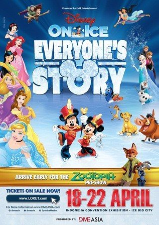 Disney on Ice 2018 Angkat Tema Everyone's Story