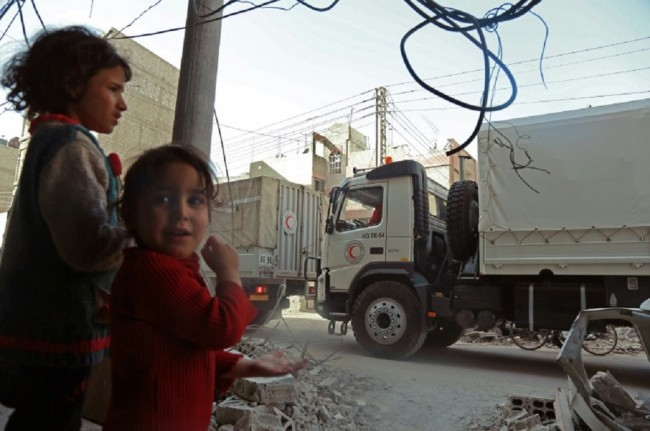 Aid Convoy Quits Eastern Ghouta as Regime Presses Onslaught