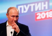 Putin Cruises to Landslide Win in Presidential Election