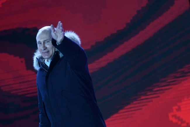 Putin Says Will Engage with West after Record Vote Win