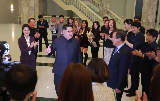 Kim Jong Un Deeply Moved by K-pop concert