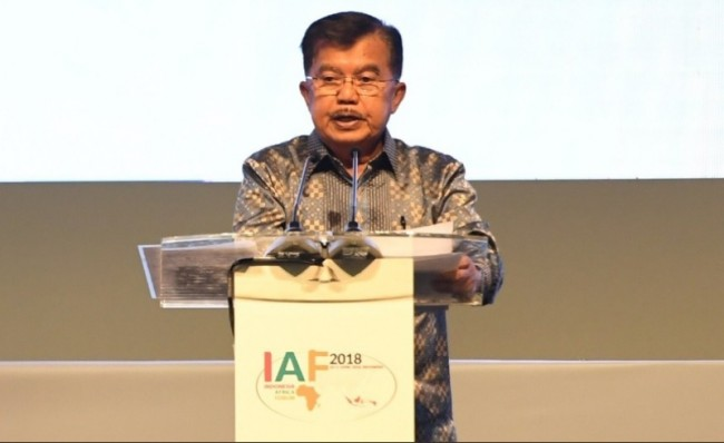 Kalla Officialy Open Indonesia-Africa Forum 2018