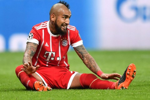 Arturo Vidal. (AFP PHOTO / Bulent Kilic)