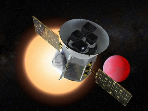 This NASA handout artist's rendition shows the Transiting Exoplanet Survey Satellite (TESS), a NASA Explorer mission launching in 2018 to study exoplanets, or planets orbiting stars outside our solar system. (Photo:AFP/NASA/GSFC)