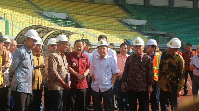 VP Kalla Inspects Asian Games Venues