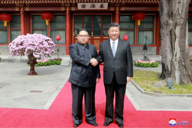 Xi Jinping and North Korea's Kim Jong Un Meet in China