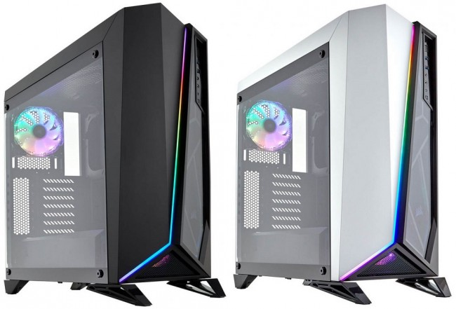 Corsair SPEC-OMEGA RGB, Tempered Glass Berpadu RGB