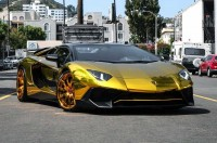 Chris Brown Pamer Lamborghini Aventador SV Roadster Bling-bling