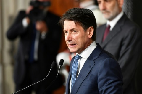 Giuseppe Conte's appointment could herald an end to more than two months of political uncertainty. (Photo:AFP/Vincenzo Pinto)