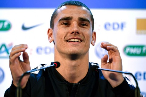 Striker Atletico Madrid Antoine Griezmann (Foto:  AFP PHOTO / FRANCK FIFE)