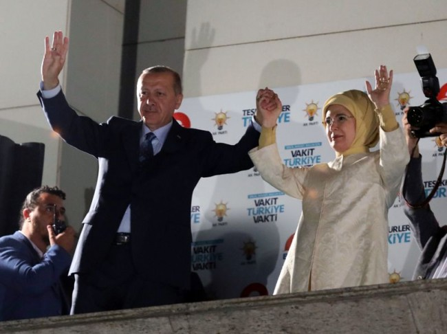 Erdogan Claims Victory in Turkey Presidential Polls