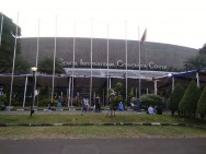 Suasana Jelang Konser Celine Dion di Sentul International Conventional Center