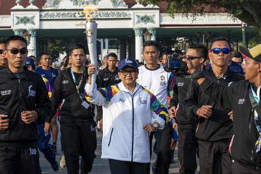 Menlu Retno Awali Torch Relay Asian Games 2018