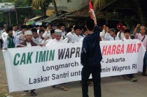 Ribuan Santri Long March Dukung Cak Imin