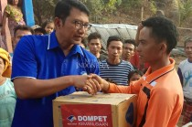 Dompet Kemanusian Media Group Bantu Korban Gempa Lombok