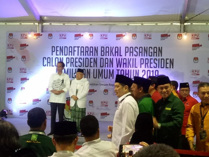 Jokowi Files Candidacy for Second Term