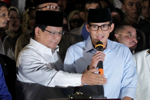 The pair earlier has gathered supports from Gerindra Party, PAN and PKS (Photo:MI/Pius Erlangga)