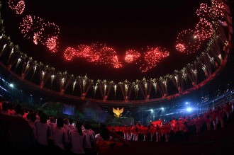 Kemegahan Opening Ceremony Asian Games 2018