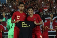 Kampanye Setop Kekerasan di PSSI 88th U19 International Tournament