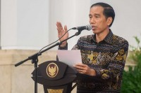 Jokowi Attends 65th Anniversary of UKI