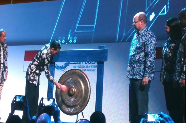 Jokowi Opens Our Ocean Conference 2018