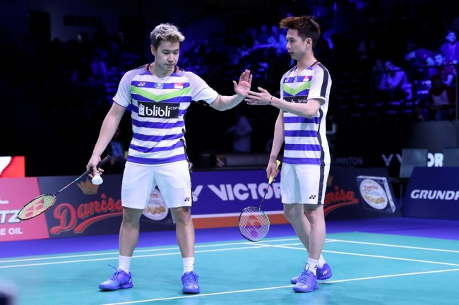 Mulus ke Final, Marcus/Kevin Buka Kans All Indonesian Final