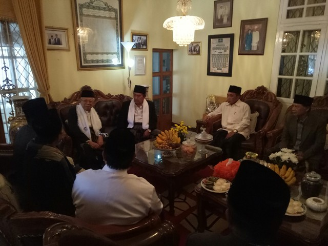 Ma'ruf Amin Visits Sukabumi, Meets Local Clerics