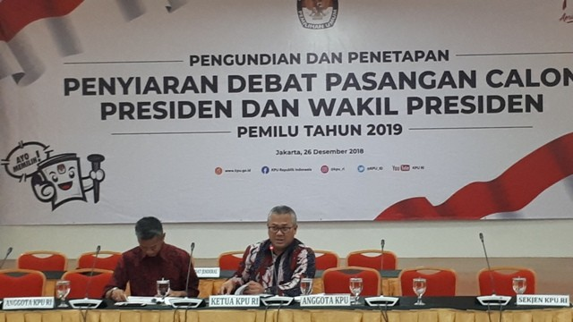 KPU Announces Official Broadcasters of Presidential Debates