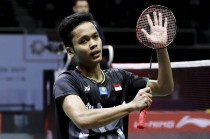 Anthony Ginting Dikalahkan Kento Momota di Final Singapore Open
