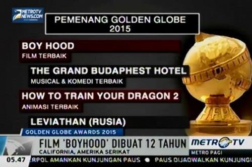 Film Boy Hood Raih Film dan Sutradara Terbaik Golden Globe Awards 2015