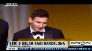 Lionel Messi Raih Ballon d'Or Kelima