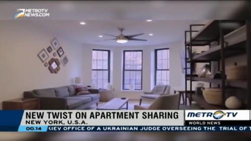 New Twist on Apartment Sharing in New York