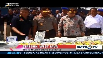 Indonesian Police Destroyed USD13 Million Drugs