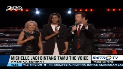 Michelle Obama Promosikan Joining Forces di The Voice