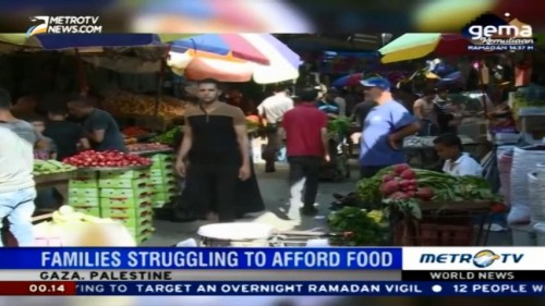 Families in Gaza Struggling to Afford Food During Ramadan