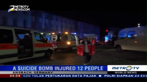 A Suicide Bomb Injured 12 People in Ansbach